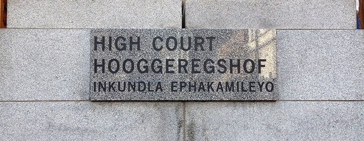 High Court, South Africa, in English, Afrikaans and Xhosa. Photo: Caroline Kerfoot