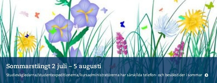 Sommarstängt 2 juli-5 augusti.Ill: Free Grass Flowers w. Dragonfly and Butterfly fr se.clipartlogo.c